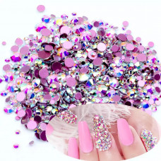 Стразы для дизайна ногтей MIX Crystal AB