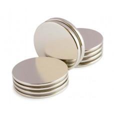 Магниты неодимовые 10х1,5 мм круглые (комплект 2 шт)