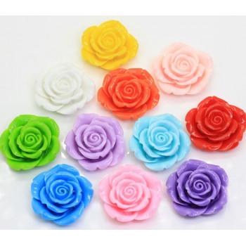 Кабошоны Цветы 8 мм, 3 штуки