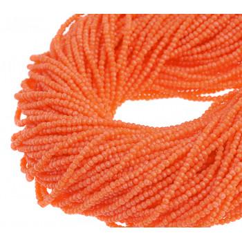 Бусины граненые Rondelle 4х3 мм Коралловые, непрозрачные, 1 нить