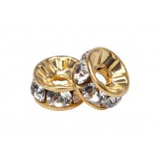 Rondelle Swarovski Gold