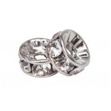Rondelle Swarovski Silver