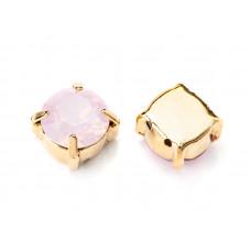 Шатон с кристаллом Swarovski Gold Rose Water Opal