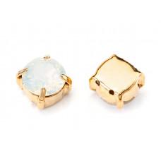 Шатон с кристаллом Swarovski Gold White Opal
