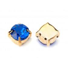 Шатон с кристаллом Swarovski Gold Capri Blue