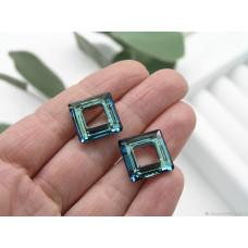 4439 Подвеска Swarovski Square Ring Crystal Bermuda Blue - 14 мм