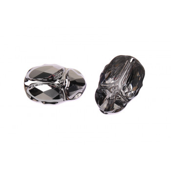 Бусина Swarovski Scarab 12 mm - Crystal Silver Night
