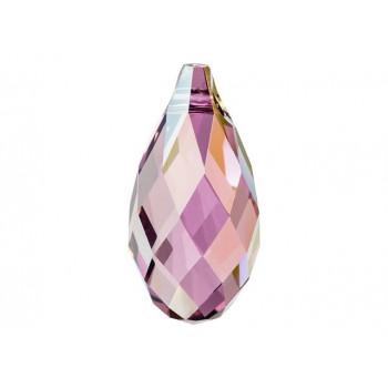 6010 Подвеска Swarovski Briolette Crystal Lilac Shadow - 13x6,5 мм