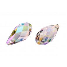 6010 Подвеска Swarovski Briolette Crystal Paradise Shine - 13x6,5 мм