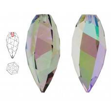 6540 Подвеска Swarovski Twisted Drop Crystal Paradise Shine - 20 мм