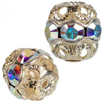 Бусина Swarovski Crystal AB 3,5-3,6 мм