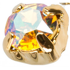 Шатон с кристаллом Swarovski Gold Light Topaz Shimmer в оправе