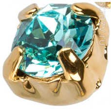 Шатон с кристаллом Swarovski Gold Light Turquoise