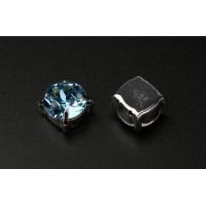 Шатон с кристаллом Swarovski Aquamarine в оправе
