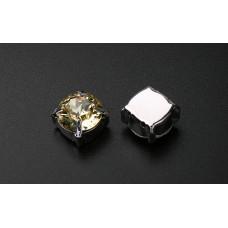 Шатон с кристаллом Swarovski Jonquil в оправе