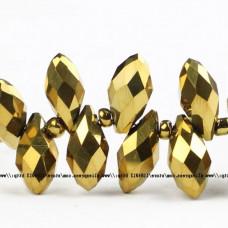 Бусины Briolette Gold 6х12 мм, 40 штук