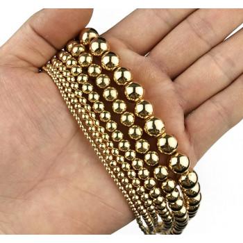 Бусины-шарики (золото)