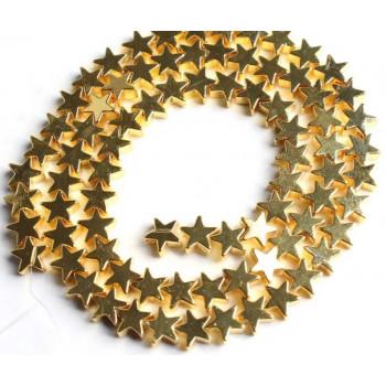 Бусины Звездочки (золото)