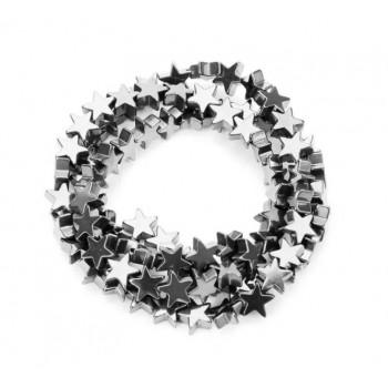 Бусины Звездочки (темное серебро)