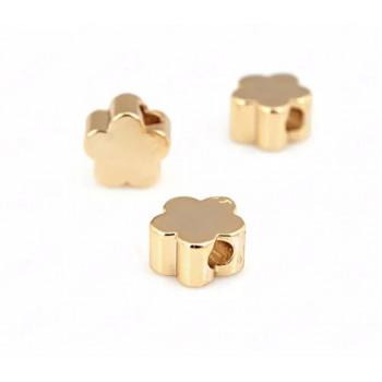 Бусины Цветочки (золото) 5х2,5 мм, 5 штук