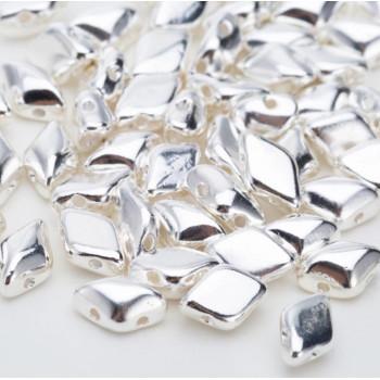 Бусины GemDuo 8x5 мм Silver, 5 штук