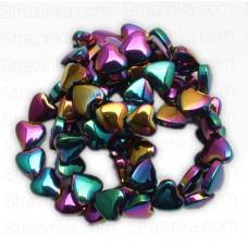 Бусины-сердечки Rainbow, 5х6 мм, 5 штук