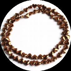 Бусины-сердечки Bronze, 5х6 мм, 5 штук