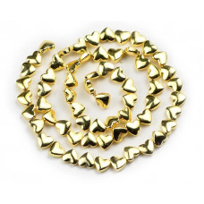 Бусины-сердечки Light Gold, 5х6 мм, 5 штук