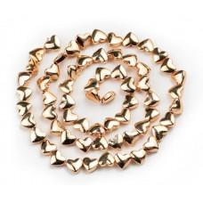 Бусины-сердечки Gold, 5х6 мм, 5 штук