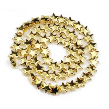 Бусины-звездочки золотые (пластик), 5 шт