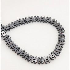 Бусина Chanel Dark Grey, 3 шт