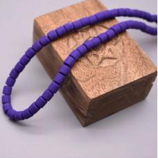 Каучуковые бусины фиолетовые