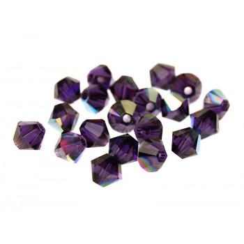Биконусы XILION Swarovski Purple Velvet AB