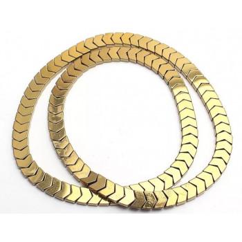 Бусины Уголки 6х5 мм (золото), 5 штук