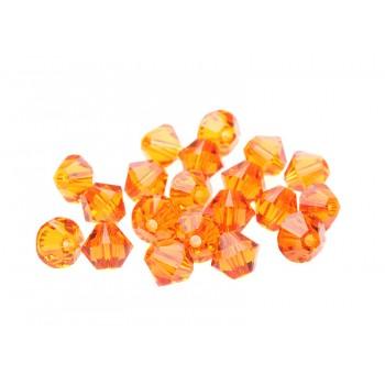 Биконусы XILION Swarovski Tangerine