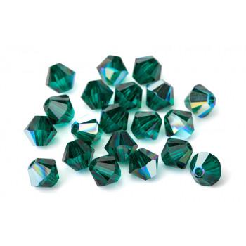 Биконусы XILION Swarovski Emerald AB
