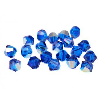 Биконусы XILION Swarovski Capri Blue AB