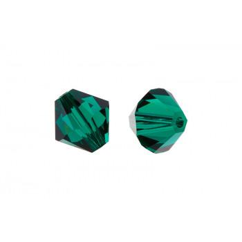 Биконусы XILION Swarovski Emerald