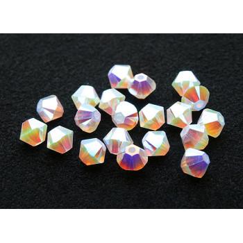 Биконусы XILION Swarovski White Opal AB 2X
