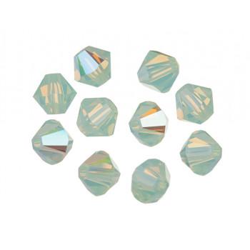 Биконусы XILION Swarovski Chrysolite Opal Shimmer