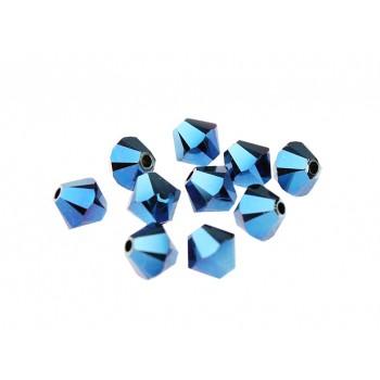 Биконусы XILION Swarovski Crystal Metallic Blue 2X