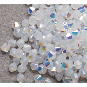 Биконусы XILION Swarovski White Opal AB