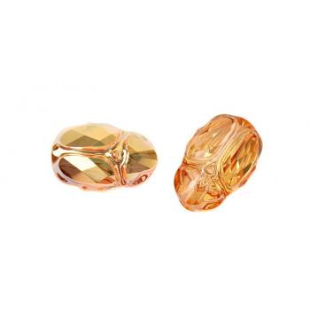 Бусина Scarab Bead 12mm - Crystal Metallic Sunshine