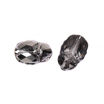 Бусина Scarab Bead 12mm - Crystal Silver Night