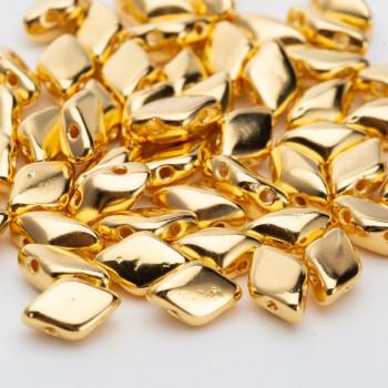 Бусины GemDuo 8x5 мм Gold, 5 штук