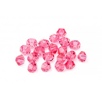 Биконусы XILION Swarovski Indian Pink