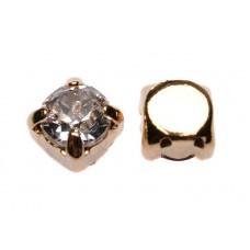 Шатон с кристаллом Swarovski Gold Сrystal в оправе