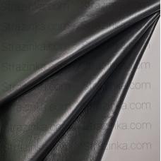 Натуральная кожа, цвет черный глянцевый