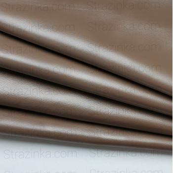 Натуральная кожа, цвет бежевый с бронзовым перламутром