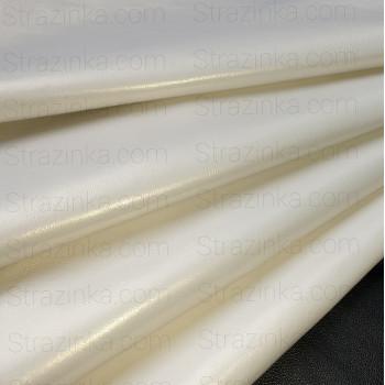 Натуральная кожа, цвет белый с золотым перламутром